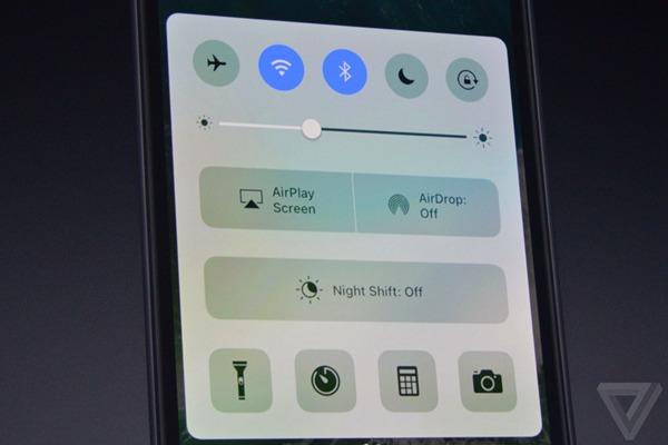iOS 10控制中心