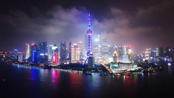 大气磅礴延时摄影《上海》