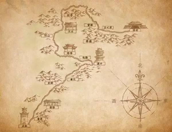 诸葛亮北伐之路路线图