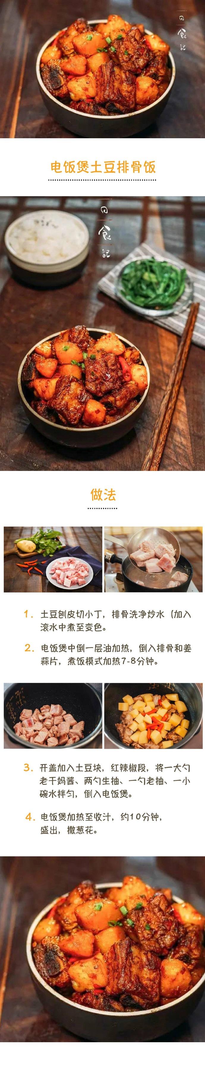 电饭煲土豆排骨饭
