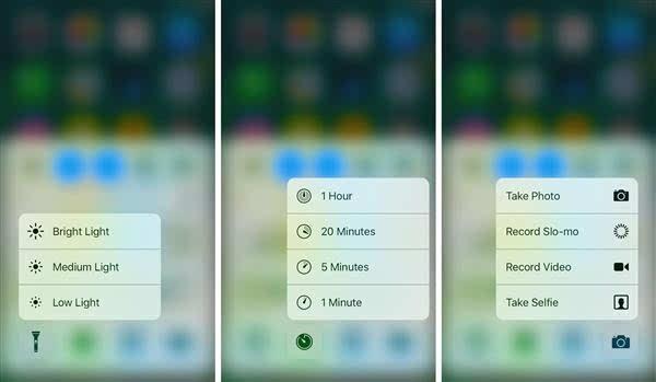 iOS 10 控制中心添加3D Touch功能