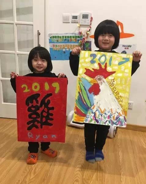 孩子画的年画