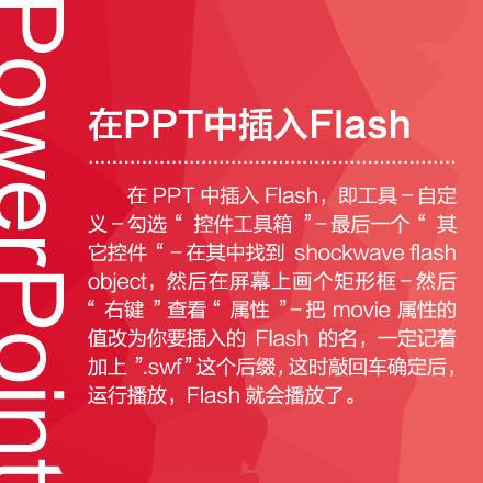 在PPT中插入Flash