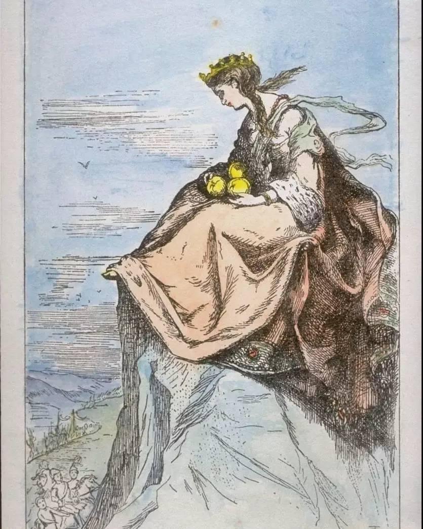 要是没人上来迎娶她,公主将永远在峰顶坐下去