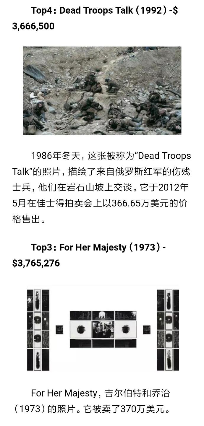 世界上最贵的照片Top4、Top3